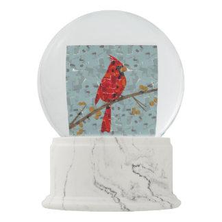 Red Cardinal Mosaic Snow Globes