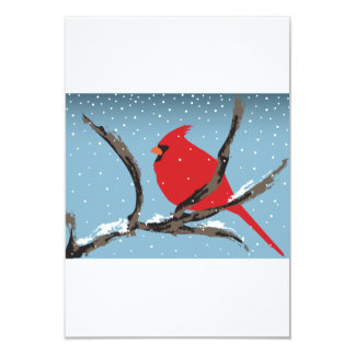 Red Cardinal On A Branch Invitations