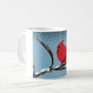 Red Cardinal On A Branch Mug