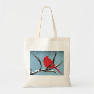 Red Cardinal On A Branch Tote Bag