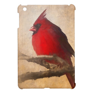 Red Cardinal Painting Cover For The iPad Mini