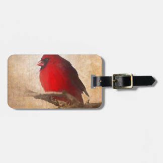 Red Cardinal Painting Luggage Tag