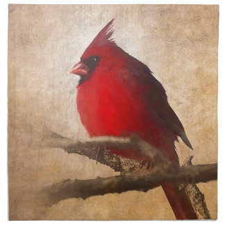 Red Cardinal Painting Napkin