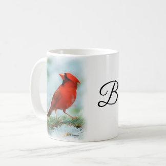 Red Cardinal Print Personalised Coffee Mug