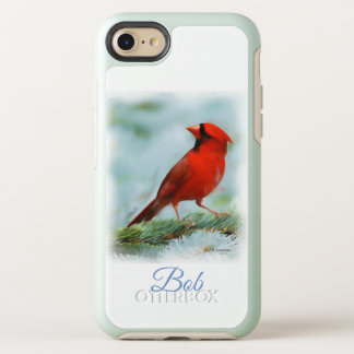 Red Cardinal Print Personalized OtterBox Symmetry iPhone 8/7 Case