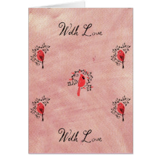 Red Cardinal With Love Card