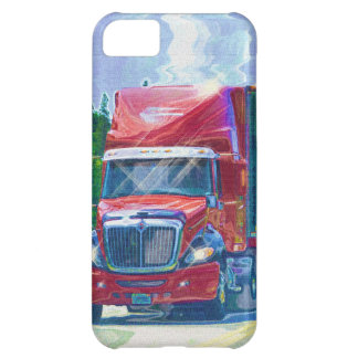 Red Cargo Lorry Freight Trucker iPhone 5 Case
