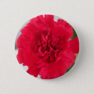 Red Carnation 6 Cm Round Badge