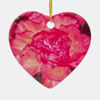 Red Carnation Ceramic Heart Decoration