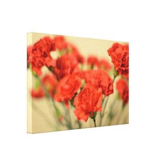 Red Carnation Flowers Modern Wall Art