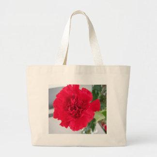 Red Carnation Large Tote Bag