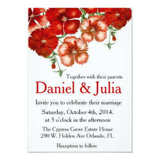 Red Carnation Wedding invitation