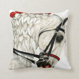 Red Carnations - Dressage Horse Pillow