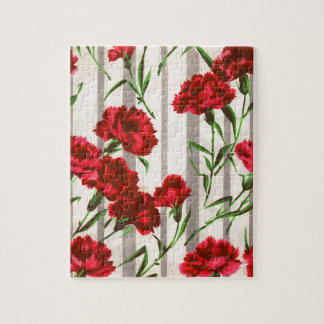 red carnations in the wild jigsaw puzzle