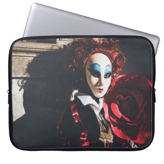 Red carnival mask in Venice, Italy Laptop Sleeve