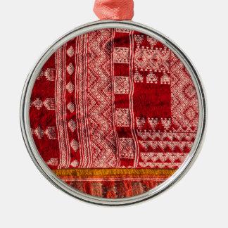 Red Carpet At Market Metal Ornament