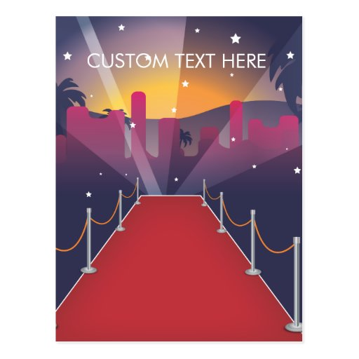 Red Carpet Celebrity Post Cards