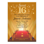 Red Carpet Hollywood Star Sweet 16 Birthday Cards