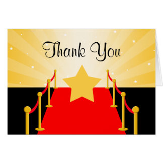 Red Carpet Hollywood Thank You Card
