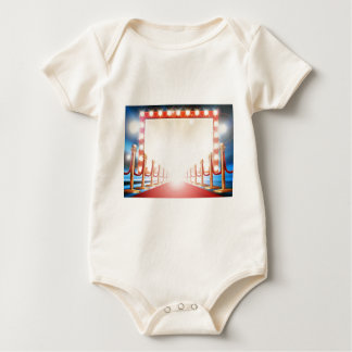 Red Carpet Light Bulb Sign Baby Bodysuit