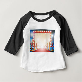 Red Carpet Light Bulb Sign Baby T-Shirt