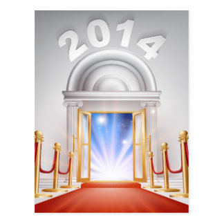 Red Carpet New Year Door 2014 Post Cards