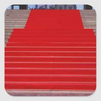 red carpet square sticker