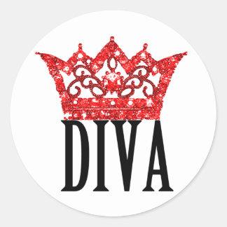 Red Carpet Tiara DIVA Stickers