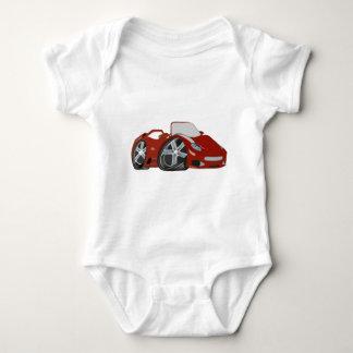 Red Cartoon Car Art Baby Bodysuit