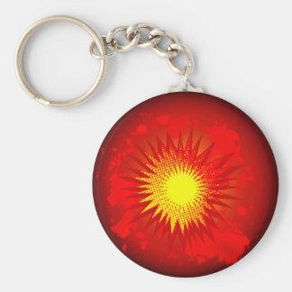 Red Cartoon Explosion Key Ring