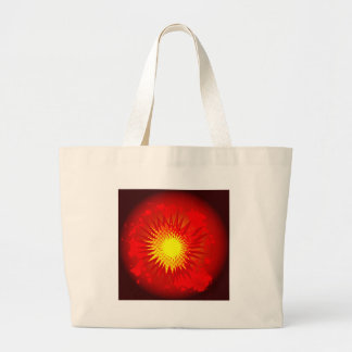 Red Cartoon Explosion Large Tote Bag