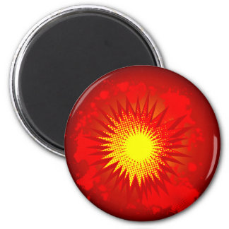 Red Cartoon Explosion Magnet