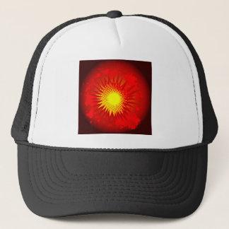 Red Cartoon Explosion Trucker Hat
