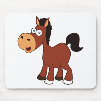 red cartoon horse mouse pad