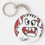 Red Cartoon Monster Keychains