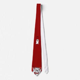Red Cartoon Monster Tie