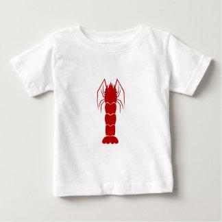 Red Cartoon Shrimp/Prawn Baby T-Shirt