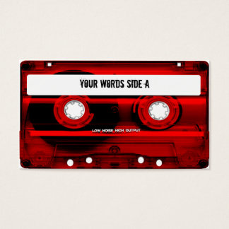 Red Cassette Tape Personalized Business Card