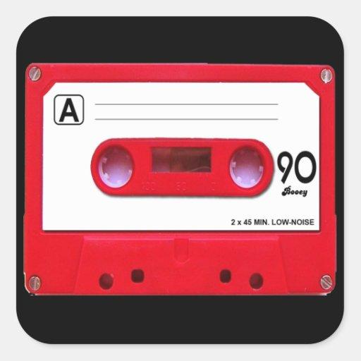 Red Cassette Tape Sticker