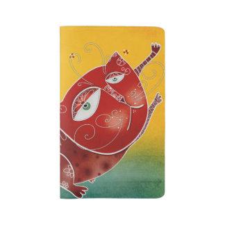 Red cat large moleskine notebook