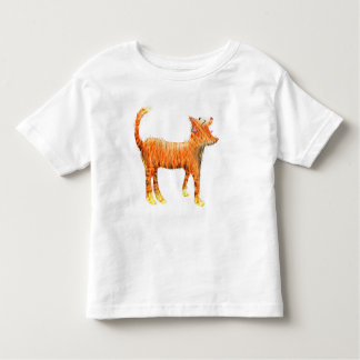 Red cat sings the blues toddler T-Shirt