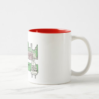 Red Cedar Restaraunt Two-Tone Coffee Mug