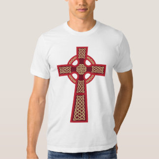 Red Celtic Cross American Apparel Fitted T-Shirt