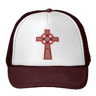 Red Celtic Cross Hat