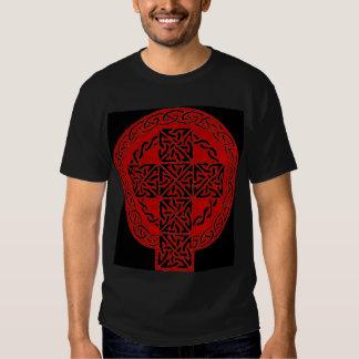 Red Celtic Cross shirt