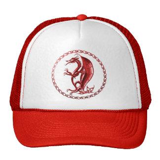 Red Celtic Dragon Hat
