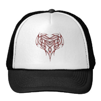 Red Celtic Heart Knot Mesh Hats