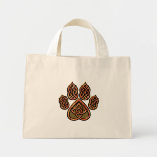 Red Celtic Pawprint Bag