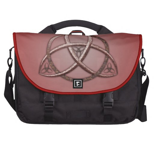 Red Celtic Trinity Knot Laptop Bag
