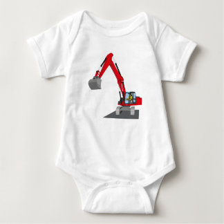red chain excavator baby bodysuit